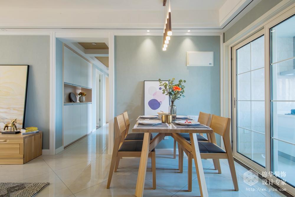现代风格-保利中央公园-四室两厅-125平米-餐厅-装修实景效果图