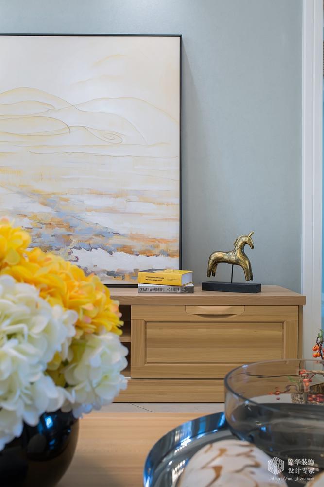现代风格-保利中央公园-四室两厅-125平米-客厅-装修实景效果图