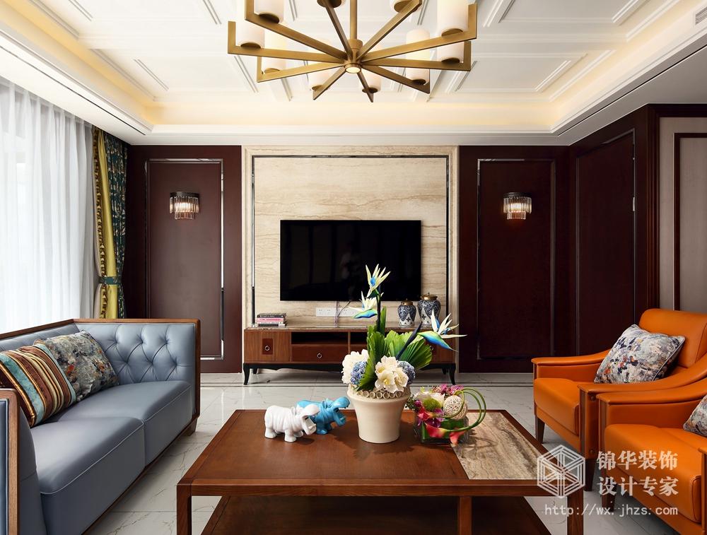 新中式风格-栖霞栖园-四室两厅-217平-装修效果实景图