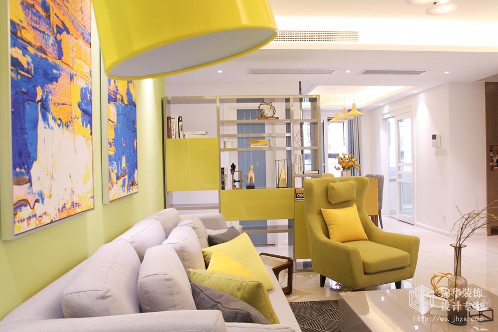 现代简约风格-中海凤凰熙岸-三室两厅-123平-装修实景效果图