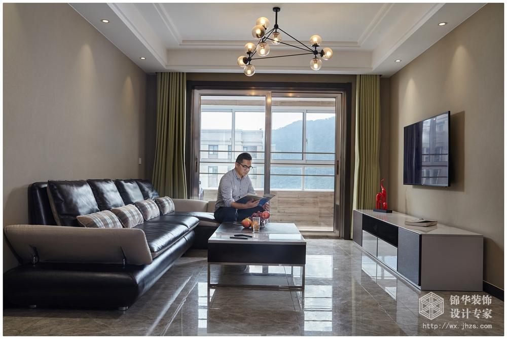 现代简约风格-小天鹅乐园-三室两厅-106平米-装修效果实景图