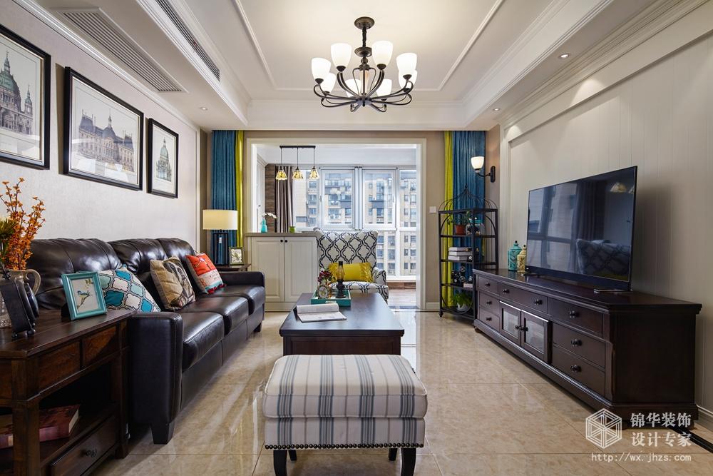 小美风格-维纳阳光-三室两厅-130平米-装修效果实景图