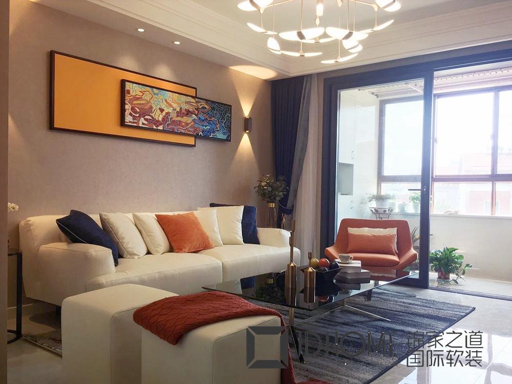 现代简约-兴源家园-三室两厅-130平-软装实景效果图