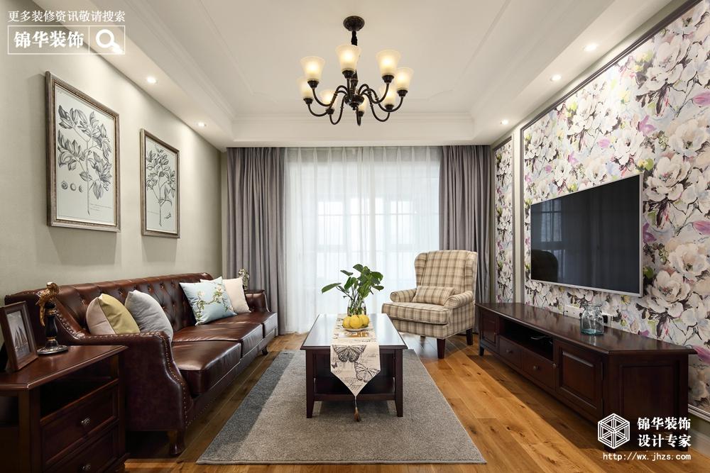 小美风格-圆融广场-三室两厅-116平-装修实景效果图