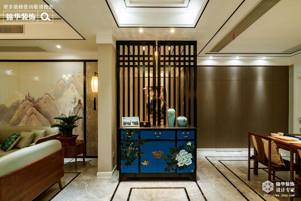 西水东156平新中式风格实景图装修-三室两厅-新中式