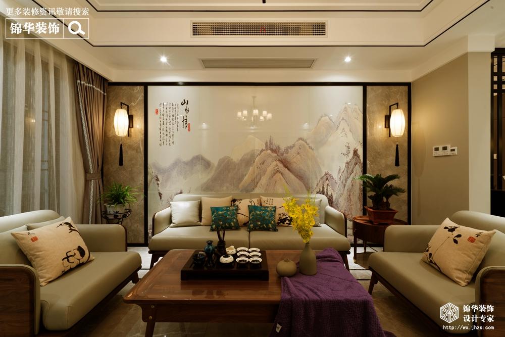 木饰面,木格栅,木线条,抛釉砖,硬包,铁艺灯具,定制砖背景墙,实木家具图片