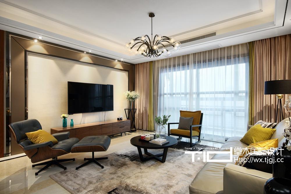 现代风格-京梁合-四室两厅-180平-装修效果实景图