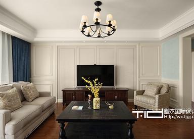 休闲美式-百乐和园-两室两厅-180平-装修效果实景图