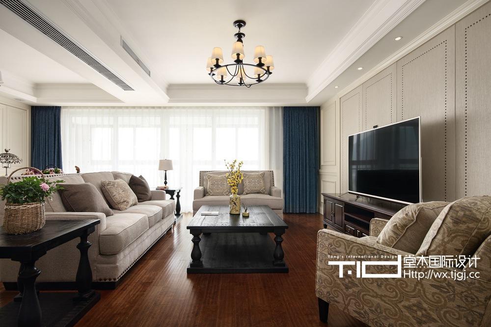 休闲美式-百乐和园-两室两厅-180平-装修效果实景图装修-两室两厅-简美