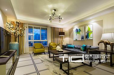 现代简约风格-保利香槟-三室两厅-146平米-装修实景效果图