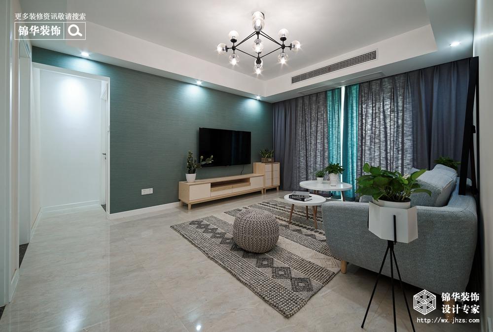 北欧风格-古运五爱苑-三室两厅-124平-装修实景效果图