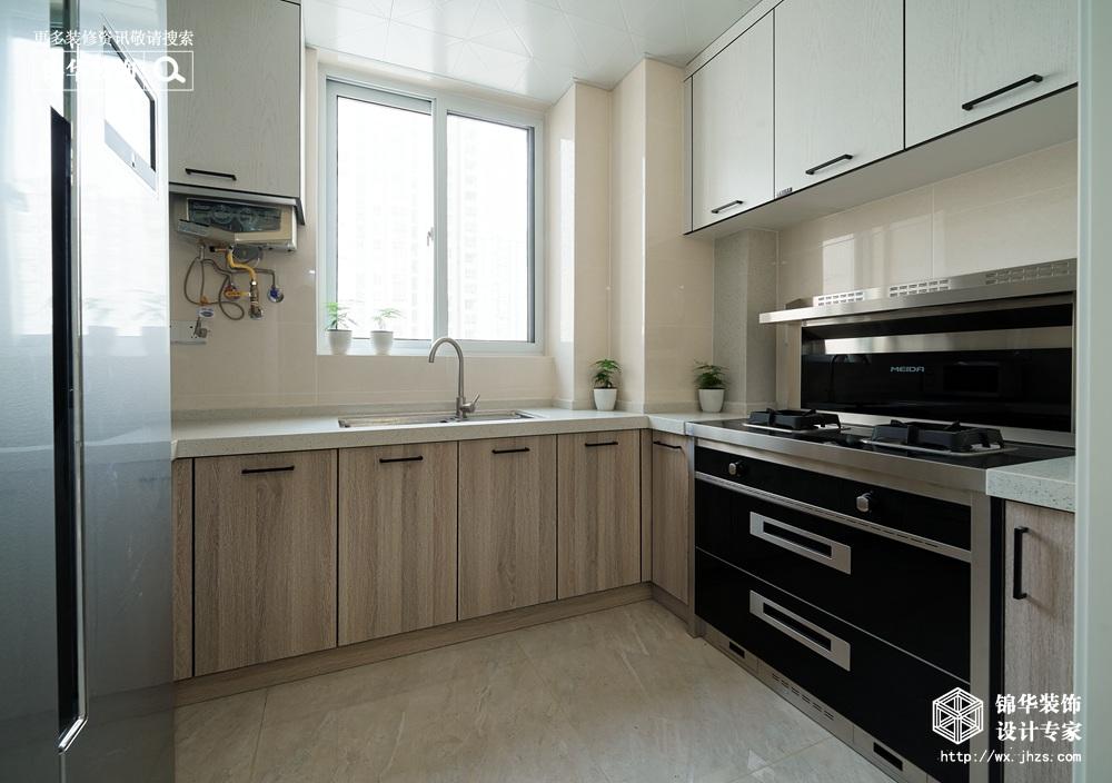 北欧风格-古运五爱苑-三室两厅-124平-厨房-装修实景效果图