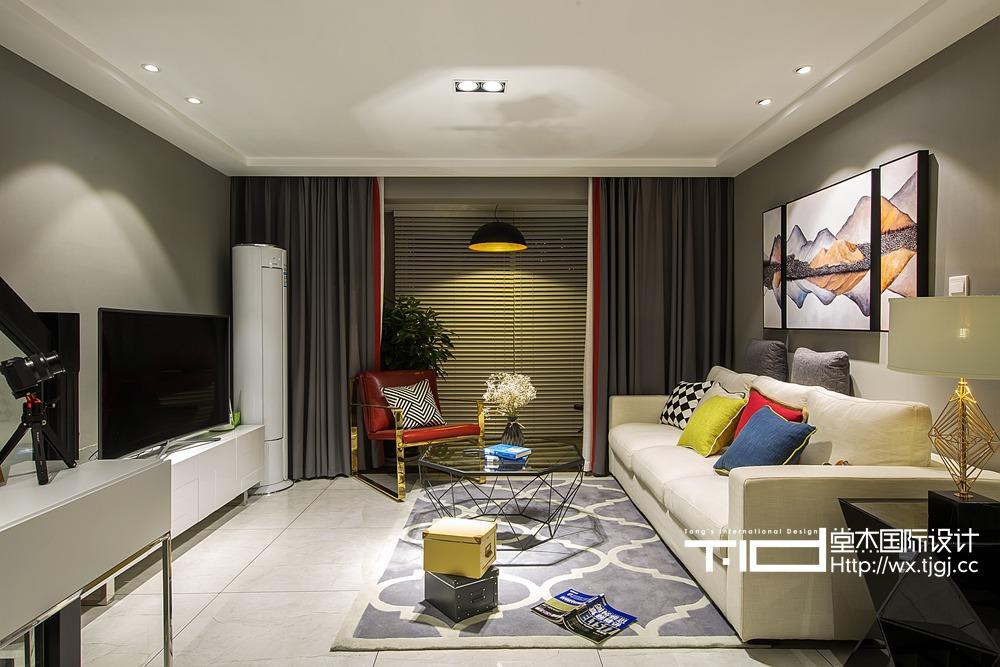 现代风格-金科米兰米兰-跃层复式-139平米-装修实景效果图