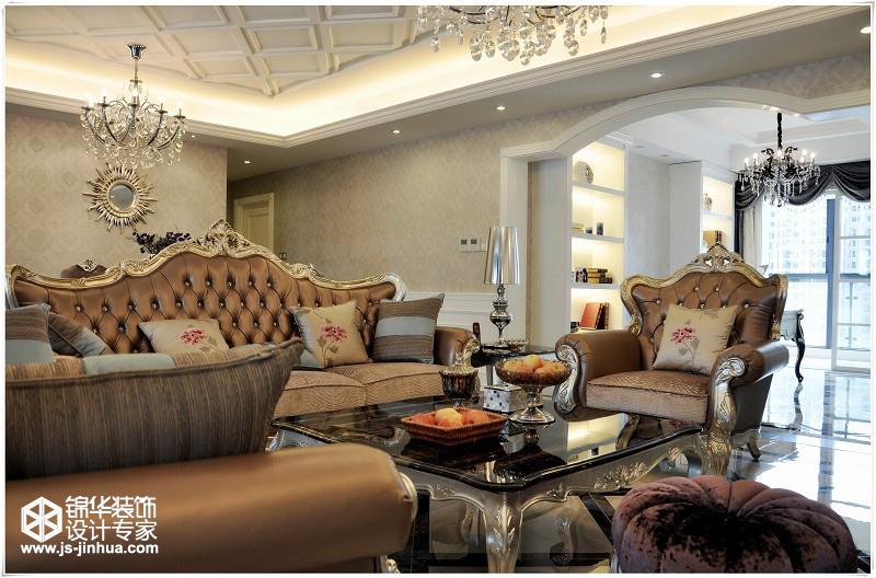 御峰210平米4室户2厅2卫户型新古典风格实景图