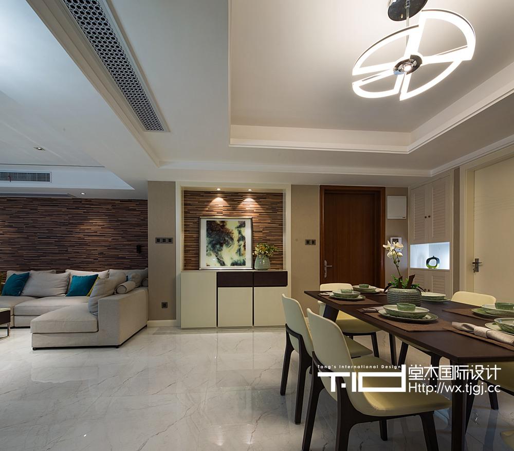 简约风格-太湖国际-三室一厅-155平-装修效果实景图
