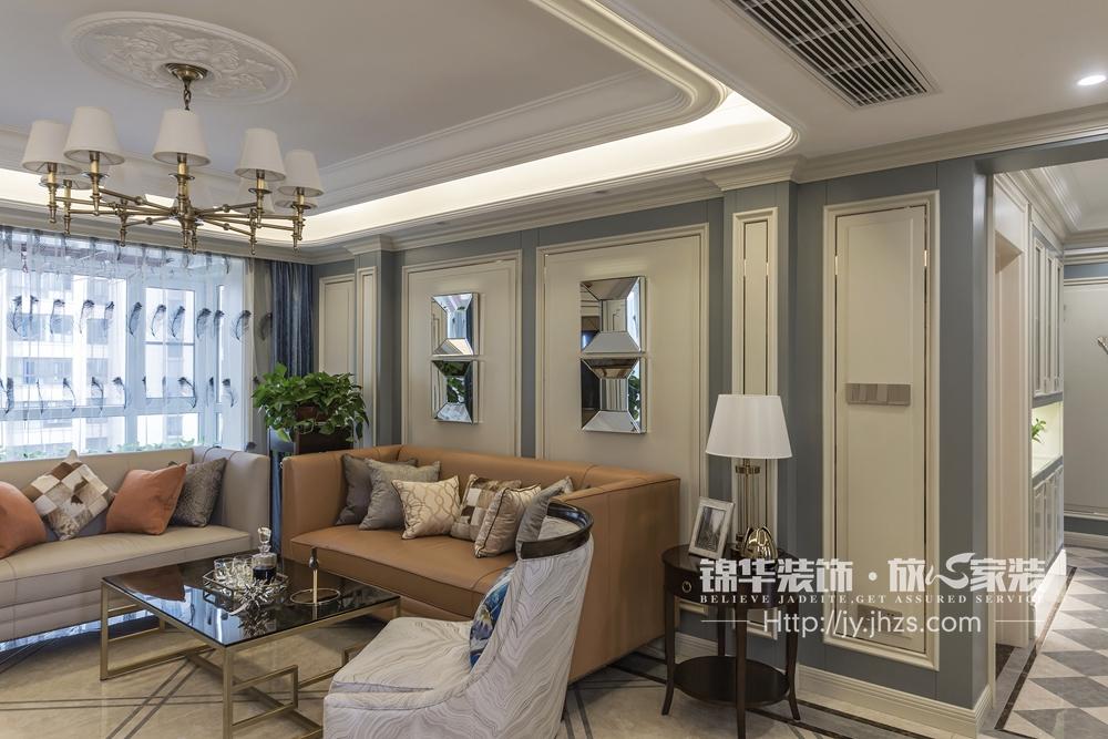 江阴院子140平美式轻奢风格实景图图片