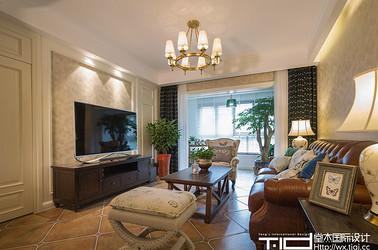 美式风格-万科信成道-三室两厅-113平米-装修实景效果图