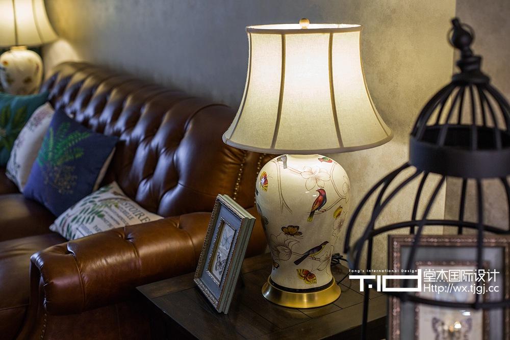 万科信成道美式风格实景图装修-三室两厅-简美