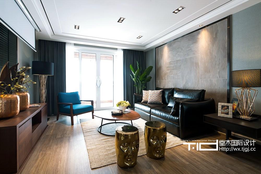 现代简约风格-西水东-三室两厅-148平米-装修实景效果图