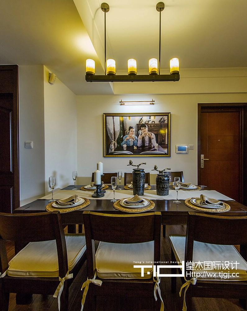 长江国际现代美式风格实景图装修-三室两厅-简美