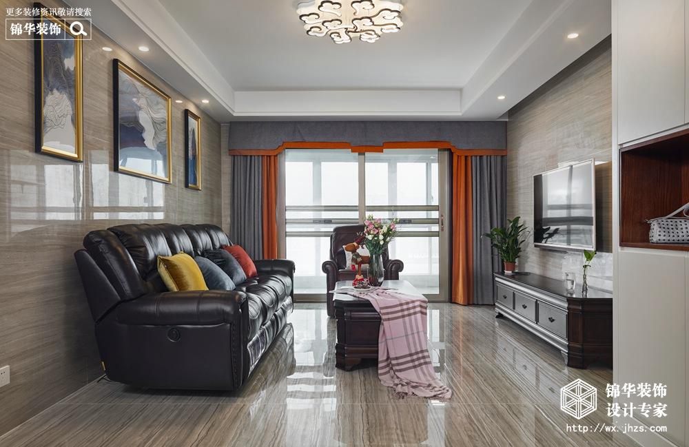 简美风格-文畅苑-四室两厅-158平米-装修实景效果图
