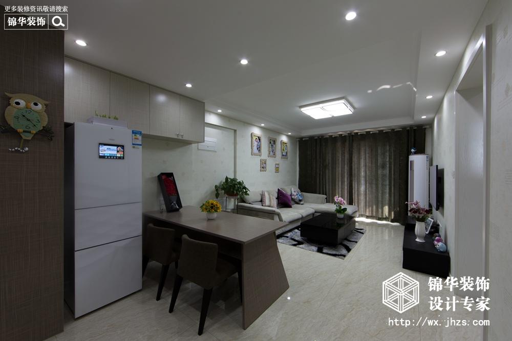现代简约风格-世贸国际-三室两厅-110平米-装修实景效果图