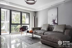 简约风格-太湖国际-三室两厅-130平-装修实景效果图