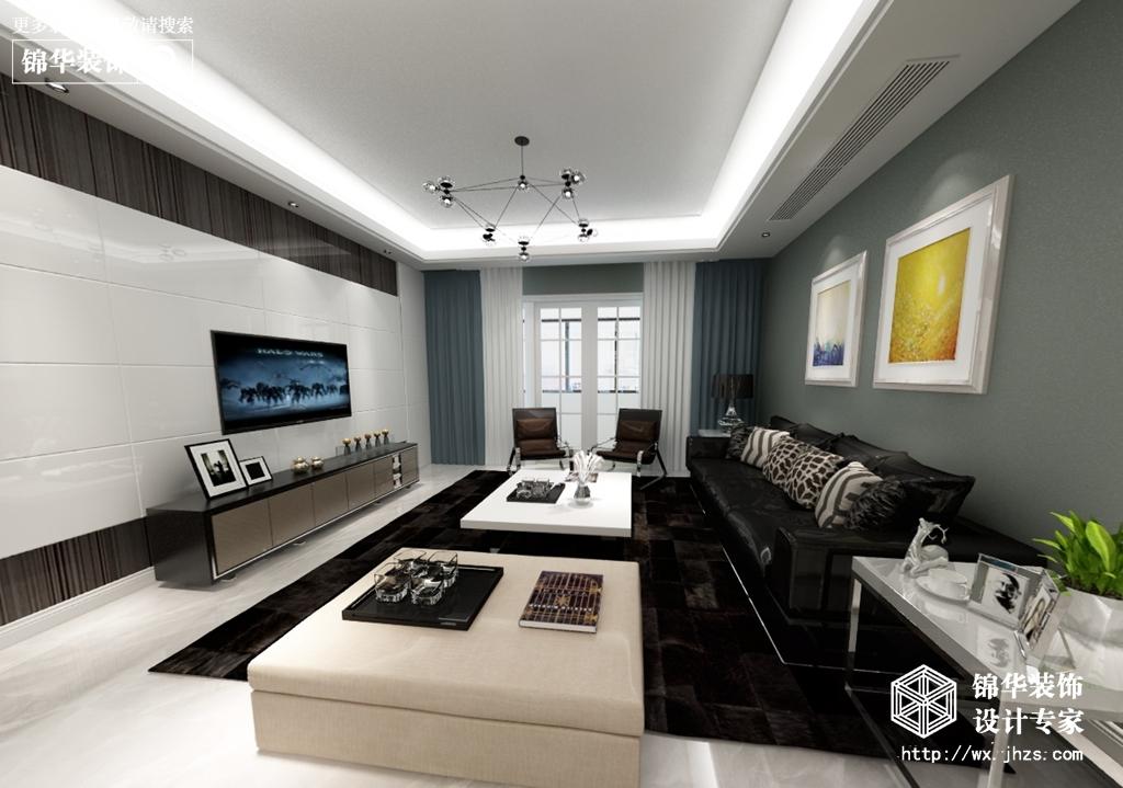 现代风格-中海凤凰熙岸-四室两厅-142平-酷家乐全景图