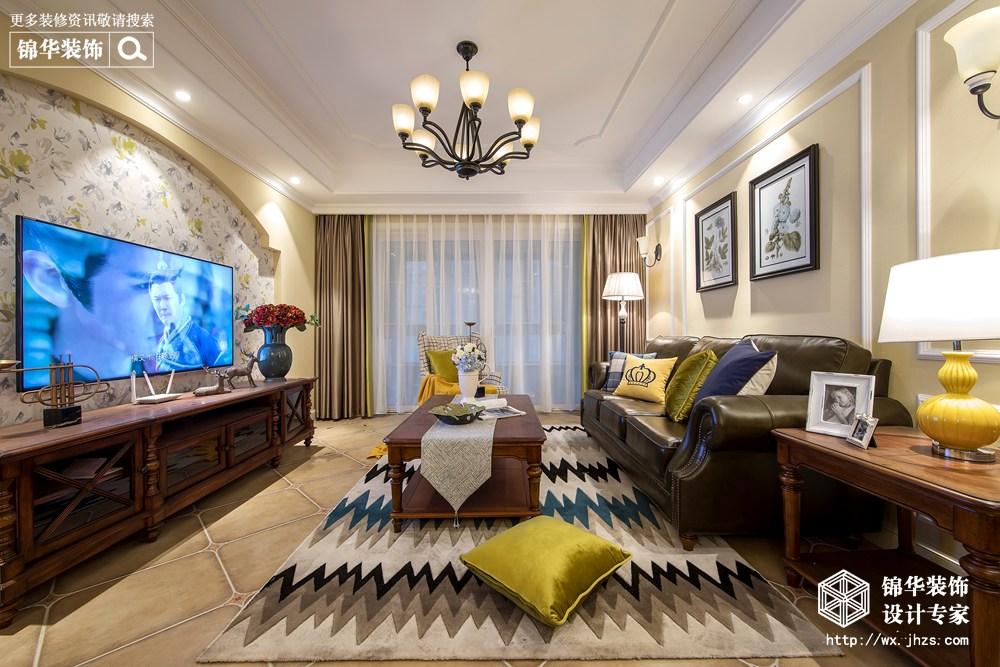 简美风格-太湖国际-三室两厅-142平-装修效果实景图