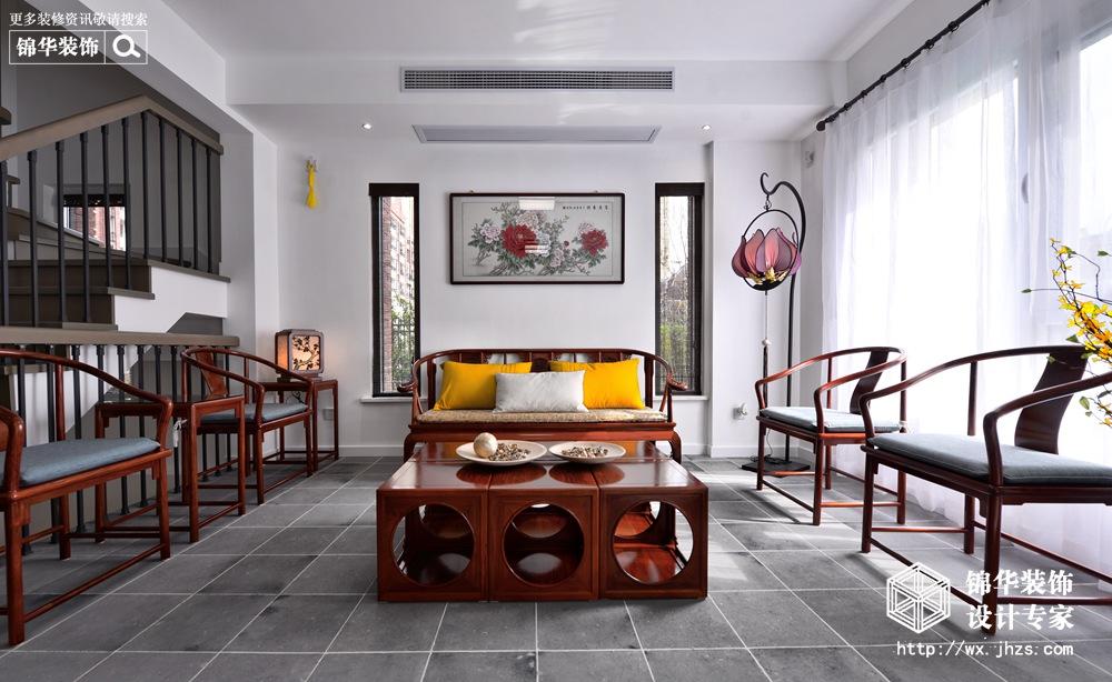 中海珑玺260平新中式风格实景图