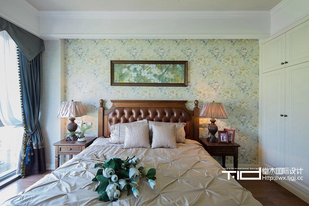 古典美式风格-玉兰花园-三室两厅-155平米-卧室-装修实景效果图