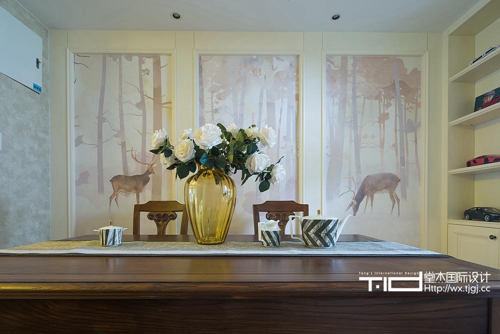 古典美式风格-玉兰花园-三室两厅-155平米-餐厅-装修实景效果图