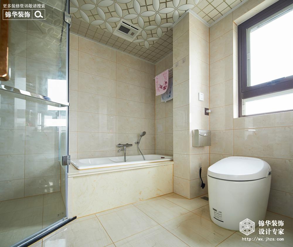 圆融广场130平美式混搭风格实景图装修-三室两厅-混搭