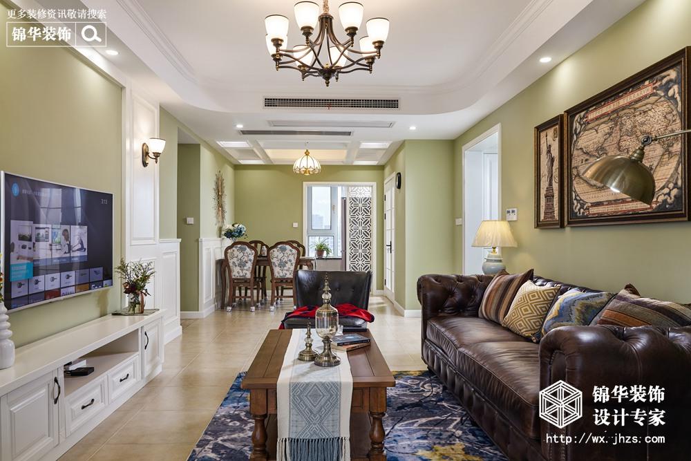 美式风格-红豆万花城-四室两厅-140平-装修实景效果图