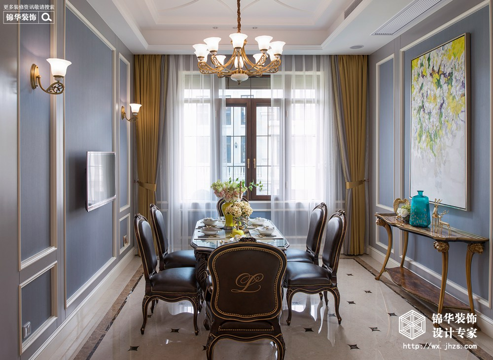 马山御园600平美式风格实景图装修-别墅-简美图片