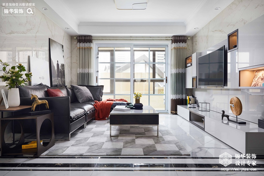 现代简约风格-华润橡树湾-四室两厅-140平米-装修实景效果图