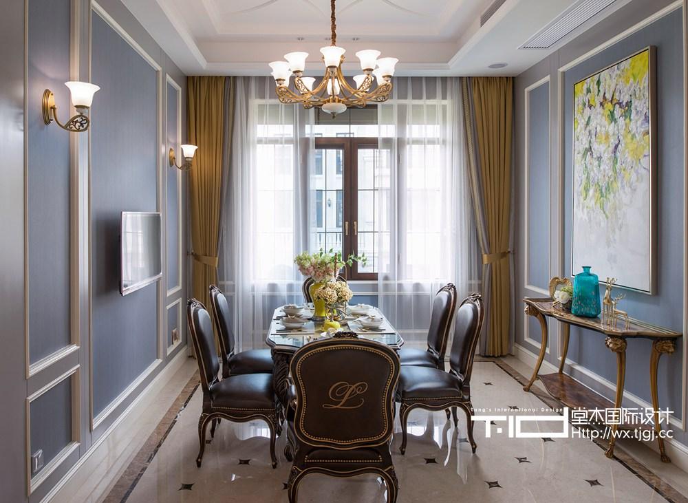 马山御园600平美式风格实景图装修-别墅-简美