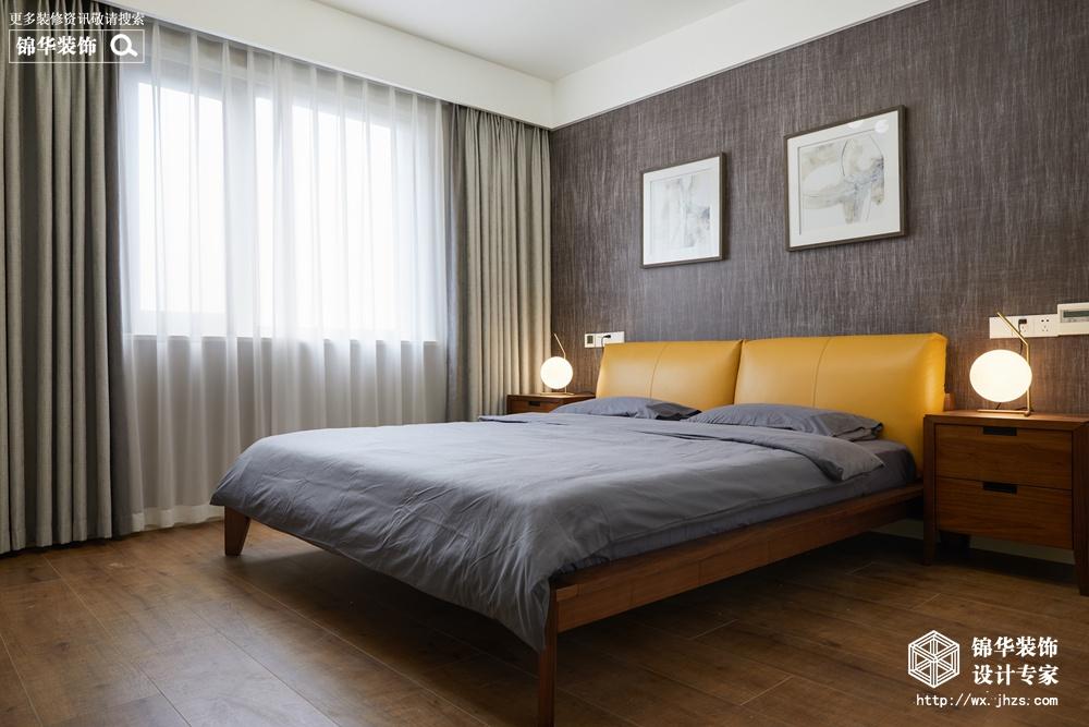 现代风格-东城中央府-三室两厅-160平-卧室-装修实景效果图