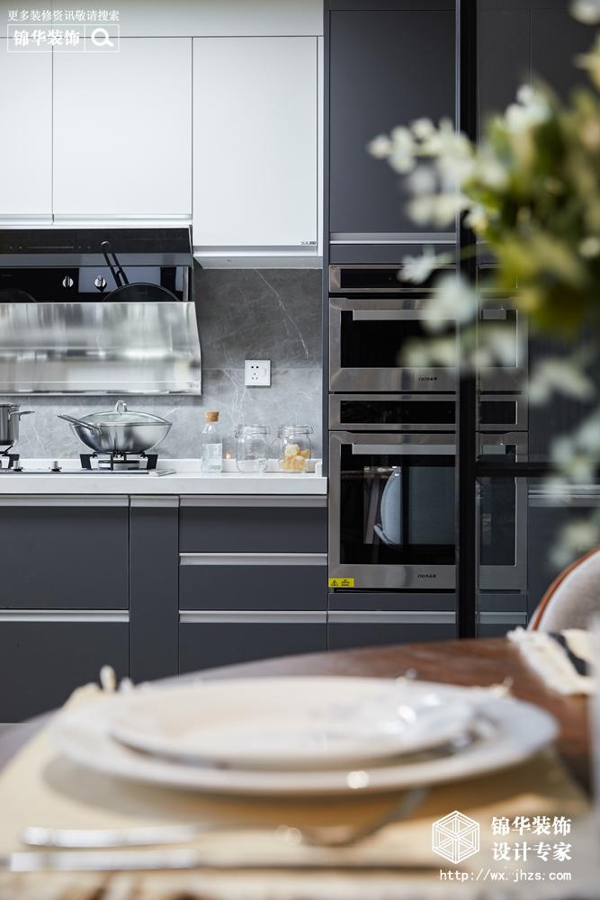 现代风格-东城中央府-三室两厅-160平-厨房-装修实景效果图