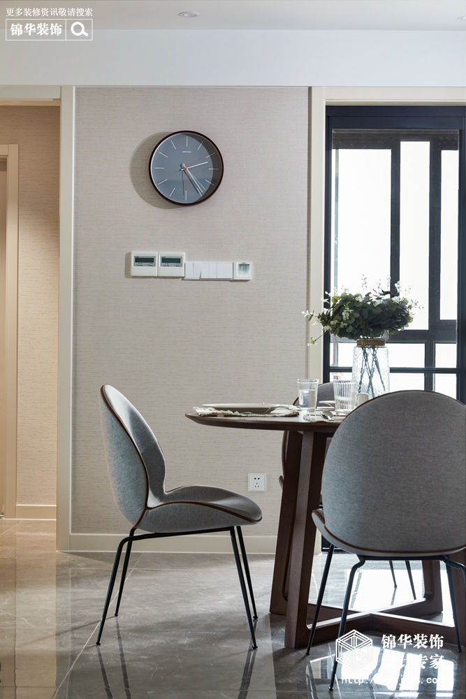 现代风格-东城中央府-三室两厅-160平-餐厅-装修实景效果图