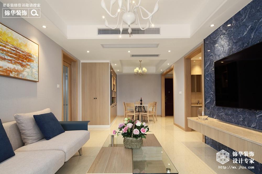 现代风格-国联乐园-三室两厅-89平-装修效果实景图