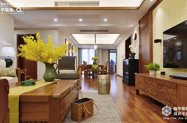 东南亚风格-西水东-三室两厅-180平-装修效果实景图