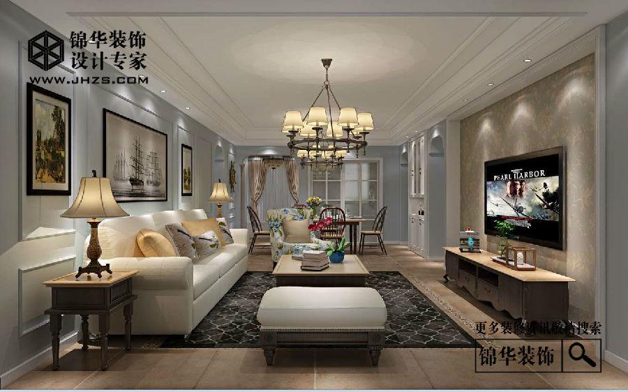 简美-江阴院子-三室两厅-140平-装修实景效果图