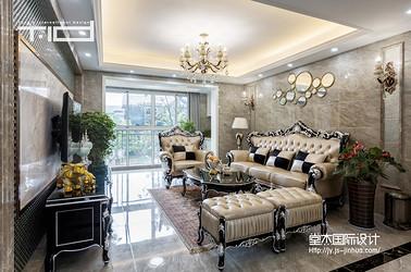简欧-东方王府-三室一厅-160平-装修实景效果图