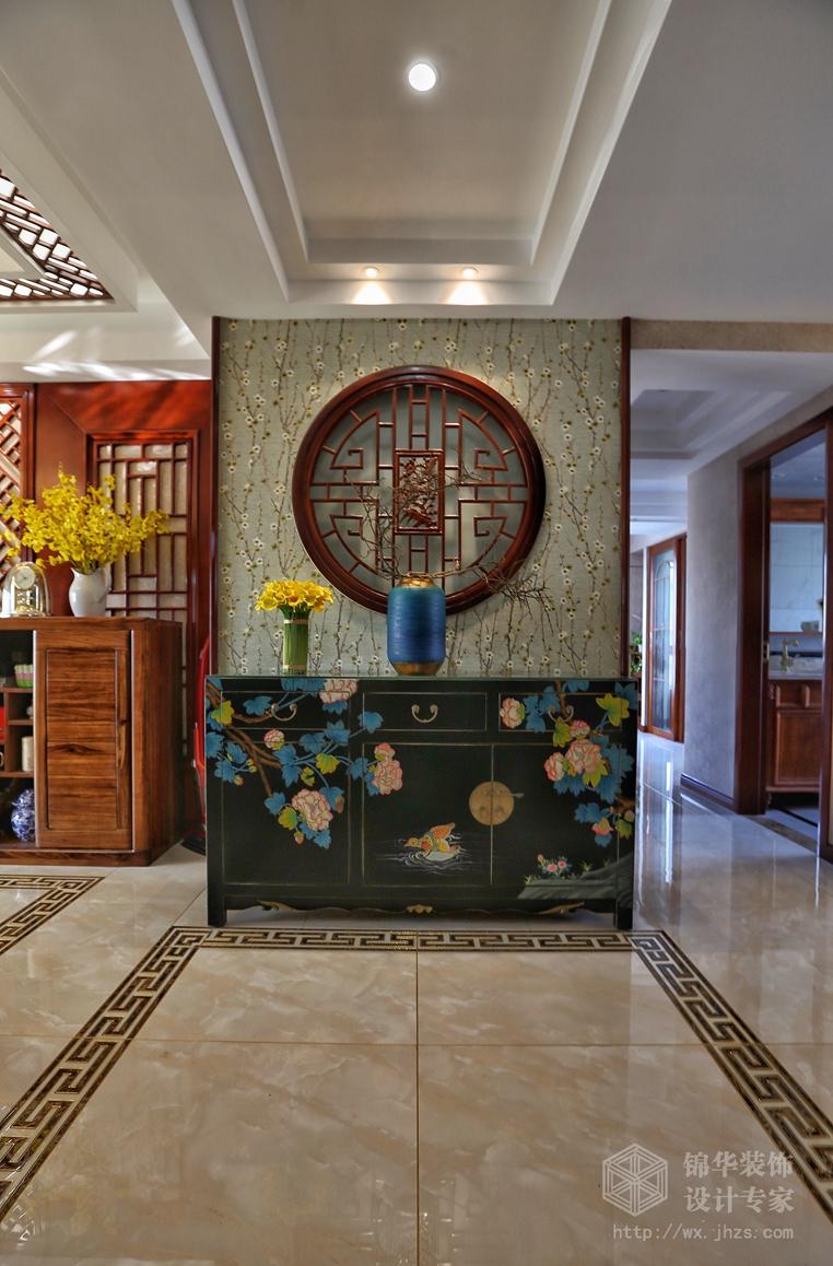 融创熙园中式风格实景图装修-三室两厅-新中式图片