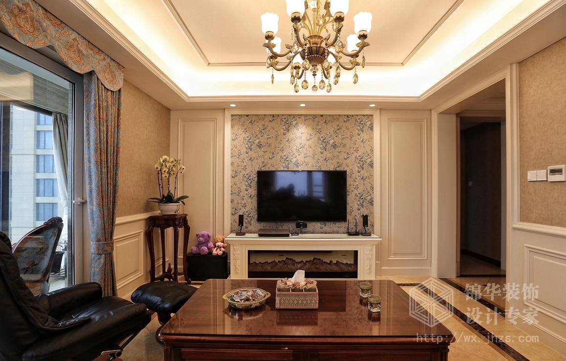 简约美式-擎天半岛-三室两厅-141平-装修效果实景图