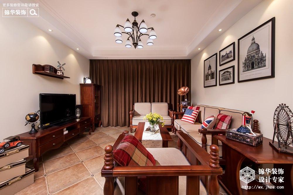 英伦风格-保利达江湾城-四室两厅-142平-装修实景效果图