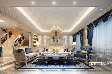 法式风格-九里香缇-别墅-252平-装修效果图