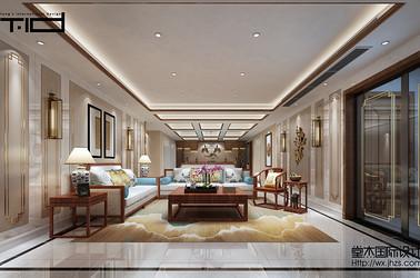 中式风格-东氿一号-别墅-600平-装修效果图
