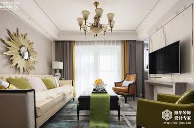 美式轻奢-中城誉品-两室一厅-88平-装修效果实景图